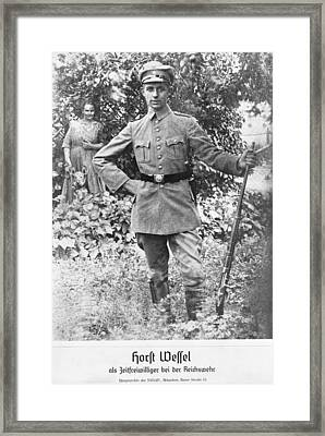 Horst Wessel In A Nazi Party Storm Framed Print by Everett