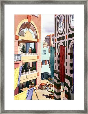 Horton Plaza San Diego Framed Print by Mary Helmreich