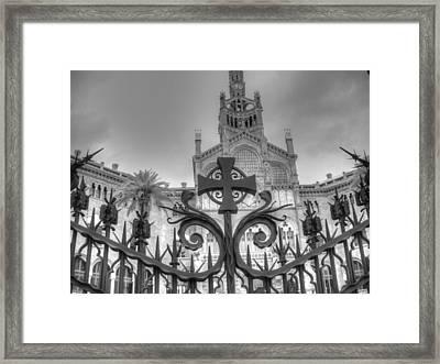 Hospital De Sant Pau Framed Print by Jane Linders