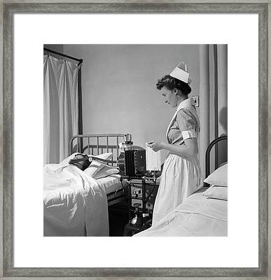 Hospital Metabolism Test Framed Print by Library Of Congress