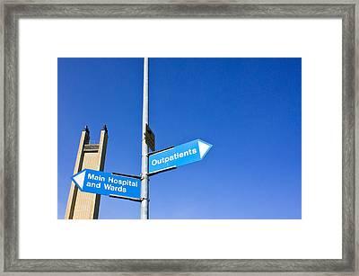 Hospital Signs Framed Print by Tom Gowanlock