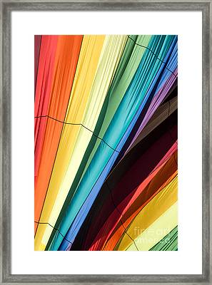 Hot Air Balloon Rainbow Framed Print by Edward Fielding