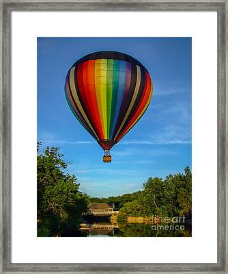 Hot Air Balloon Woodstock Vermont Framed Print by Edward Fielding