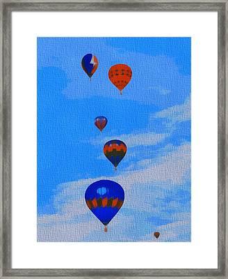 Hot Air Balloons Pop Art Framed Print by Dan Sproul