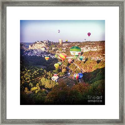 Hot Air Balloons Rocamadour Framed Print by Colin and Linda McKie
