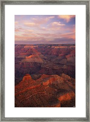 Hot And Cold Framed Print by Peter Coskun
