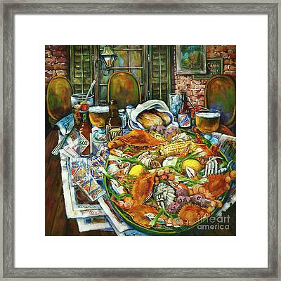Hot Boiled Crabs Framed Print by Dianne Parks