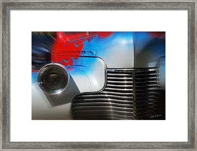 Hot Chevy Framed Print by Mick Anderson
