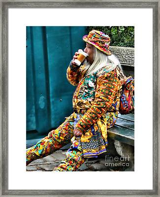 Hot Coffee And Haute Couture Framed Print by Jeff Breiman