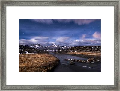 Hot Creek Bridge Framed Print by Cat Connor