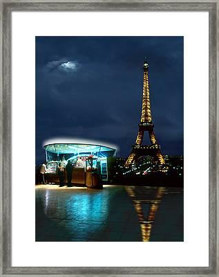 Hot Dog In Paris Framed Print by Mike McGlothlen