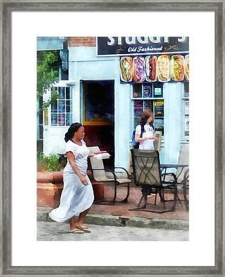 Hot Dog Shop Fells Point Framed Print by Susan Savad