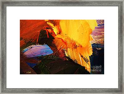Hot Flint Framed Print by John Clark