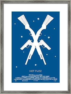 Hot Fuzz Cornetto Trilogy Custom Poster Framed Print by Jeff Bell