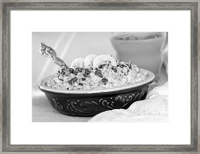 Hot Oalmeal Framed Print by Iris Richardson