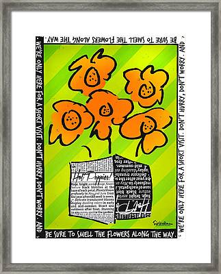 Hot Poppies Framed Print by Sid Wellman