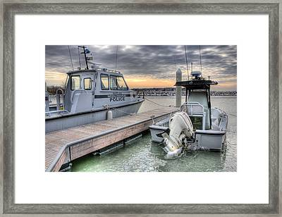 Hot Pursuit  Framed Print by JC Findley