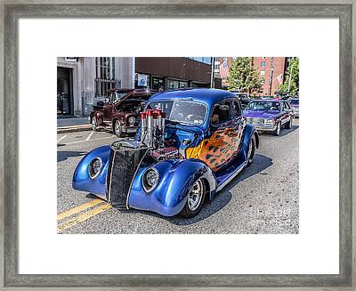 Hot Rod Car Framed Print by Edward Fielding