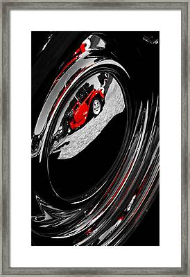 Hot Rod Hubcap Framed Print by motography aka Phil Clark