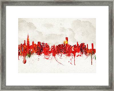 Hot Summer Day In Chicago Framed Print by Aged Pixel