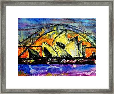 Hot Sydney Night Framed Print by Lyndsey Hatchwell