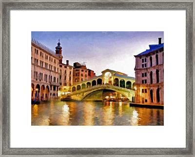 Hot Venetian Nights Framed Print by Georgiana Romanovna