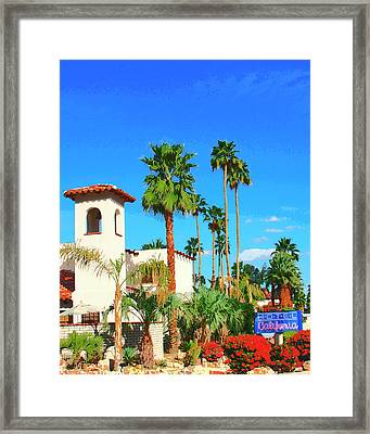 Hotel California Palm Springs Framed Print by William Dey