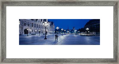 Hotel De Ville & Notre Dame Cathedral Framed Print by Panoramic Images