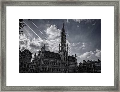 Hotel De Ville Brussels Framed Print by Joan Carroll