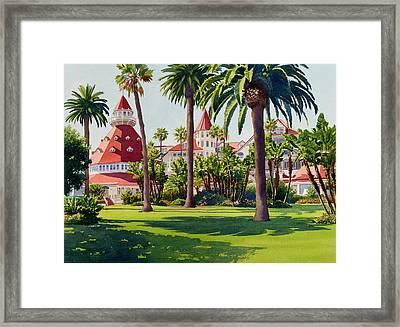Hotel Del Coronado Framed Print by Mary Helmreich