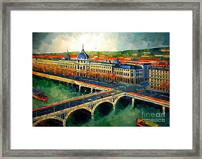 Hotel Dieu De Lyon II Framed Print by Mona Edulesco