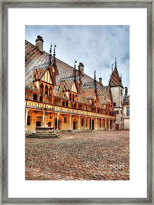Hotel Dieu Of Beaune 3 Framed Print by Mel Steinhauer