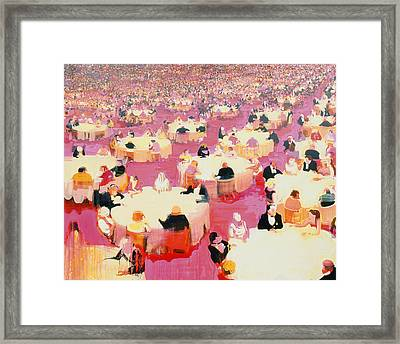 Hotel Dining Room Framed Print by Susie Hamilton
