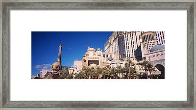 Hotel In A City, Aladdin Resort And Framed Print by Panoramic Images