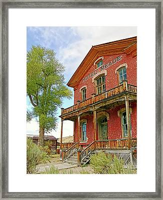 Hotel Meade Bannack Montana Ghost Town Framed Print by Jennie Marie Schell