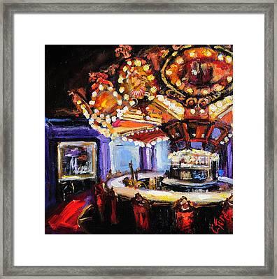Hotel Monteleone Bar Framed Print by Carole Foret