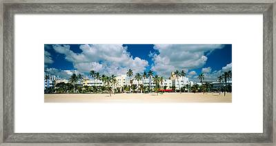 Hotels On The Beach, Art Deco Hotels Framed Print by Panoramic Images