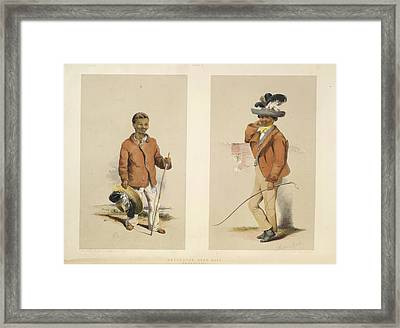 Hottentot Herd Boys Framed Print by British Library