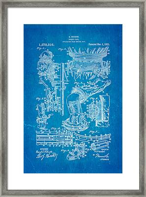 Houdini Diving Suit Patent Art 1921 Blueprint Framed Print by Ian Monk