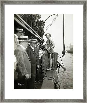 Houdini Escape Stunt Framed Print by Library Of Congress