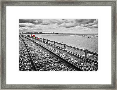 Houlgate In Winter Framed Print by Delphimages Photo Creations