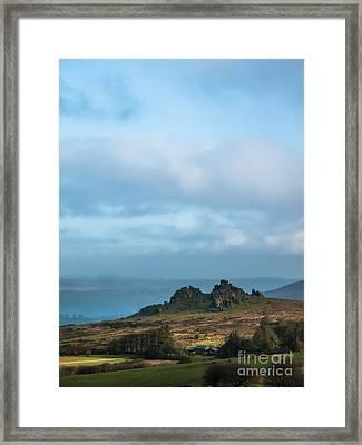 Hound Tor On Dartmoor  Framed Print by Jan Bickerton