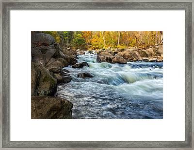 Housatonic River Autumn Framed Print by Bill Wakeley