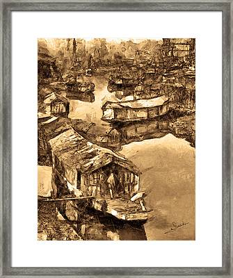 House Boat Framed Print by George Rossidis