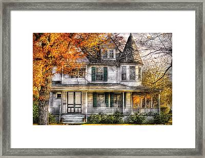 House - Classic Victorian Framed Print by Mike Savad