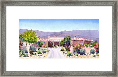 House In Borrego Springs Framed Print by Mary Helmreich