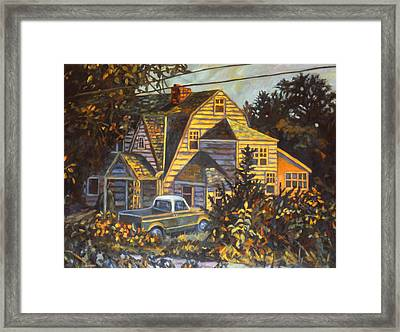 House In Christiansburg Framed Print by Kendall Kessler