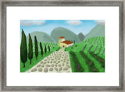 House In The Hills Framed Print by Step Sark