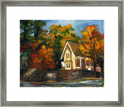 House In The Sun Framed Print by Jessica Cummings