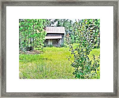 House In The Thicket Framed Print by Eloise Schneider